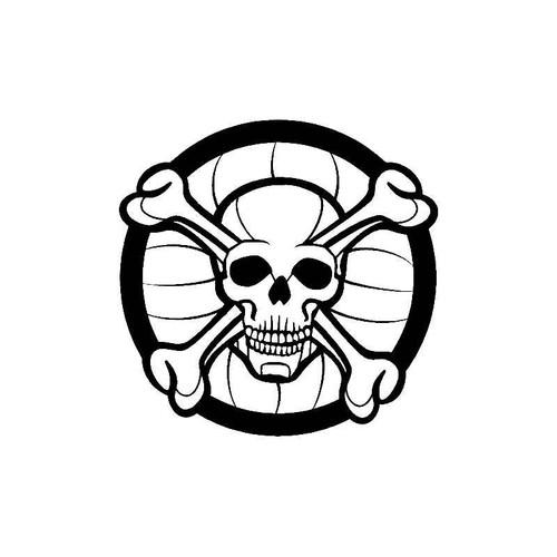 Circle Skull Bones Decal