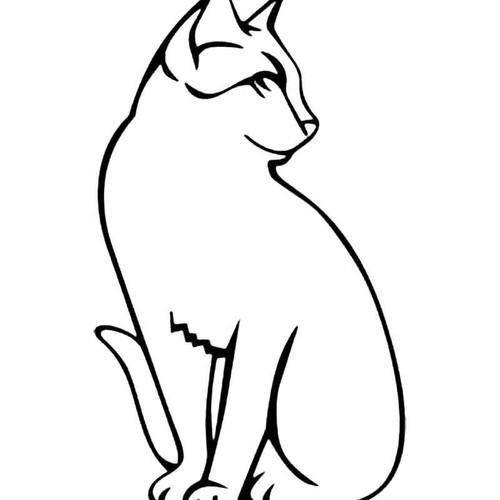 Classic Cat S Decal