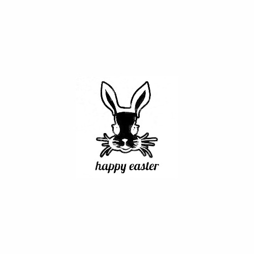 Rabbit Face Happy Easter Decal Size option will determine the size from the longest side Industry standard high performance calendared vinyl film Cut from Oracle 651 2.5 mil Outdoor durability is 7 years Glossy surface finish