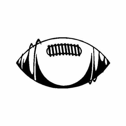 Sports Football  Vinyl Decal Sticker  Size option will determine the size from the longest side Industry standard high performance calendared vinyl film Cut from Oracle 651 2.5 mil Outdoor durability is 7 years Glossy surface finish