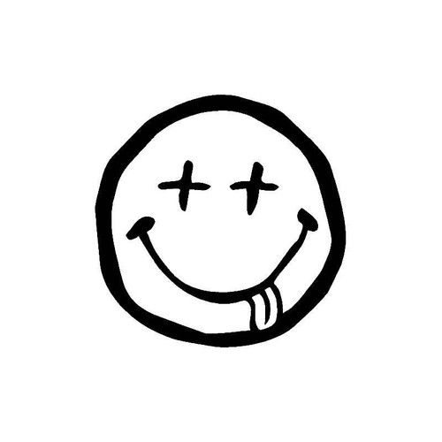 Dead Smiley Face Decal
