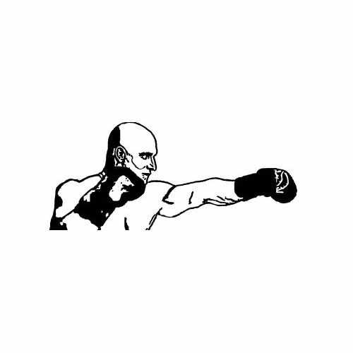 Sports- Boxing  Vinyl Decal Sticker  Size option will determine the size from the longest side Industry standard high performance calendared vinyl film Cut from Oracle 651 2.5 mil Outdoor durability is 7 years Glossy surface finish