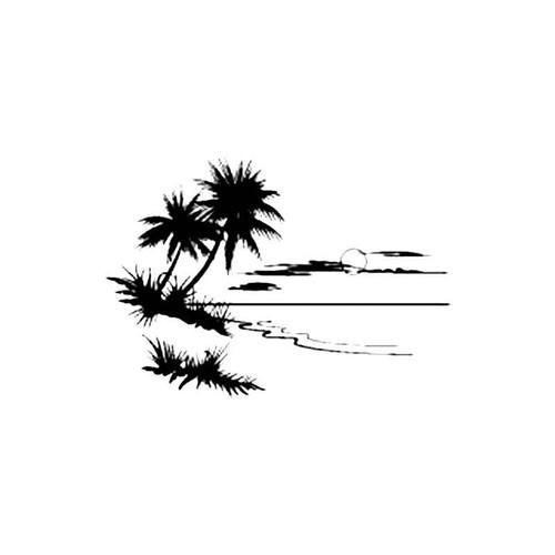 Desert Island B S Decal