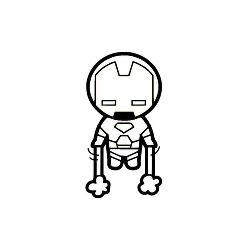 Marvel Avengers Chibi Iron Man Decal