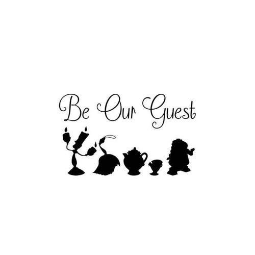 Beauty And The Beast Be Our Guest Decal