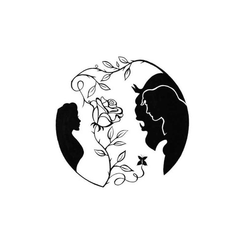 Beauty And The Beast Rose V2 Decal