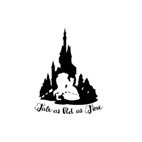 Beauty And The Beast Tale Old Time Decal