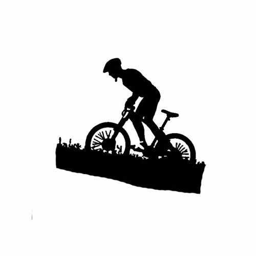Sports Biking  Vinyl Decal Sticker  Size option will determine the size from the longest side Industry standard high performance calendared vinyl film Cut from Oracle 651 2.5 mil Outdoor durability is 7 years Glossy surface finish