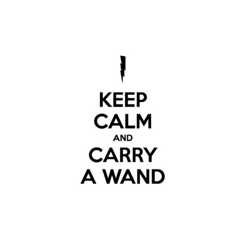 Harry Potter Keep Calm And ry A Wand Decal