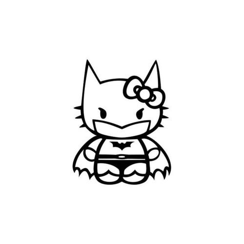 Hello Kitty Batman Decal