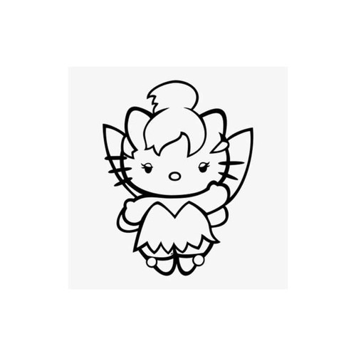 Hello Kitty Peter Pan Tinkerbell Decal