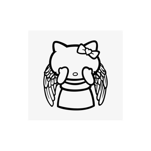 Hello Kitty Dr. Who Weeping Angel Decal