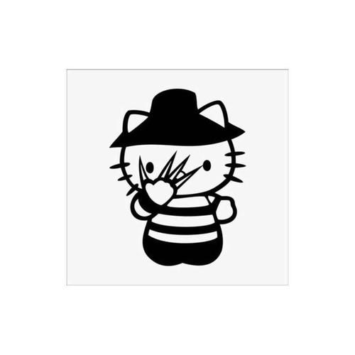Hello Kitty Freddy Krueger Decal