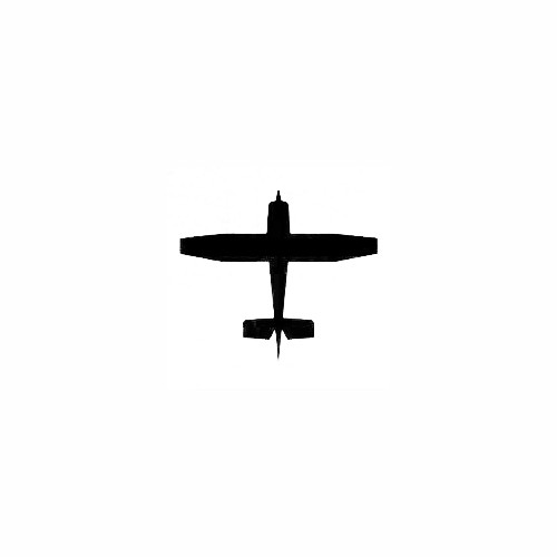 Airplane Silhouette Decal (01) Size option will determine the size from the longest side Industry standard high performance calendared vinyl film Cut from Oracle 651 2.5 mil Outdoor durability is 7 years Glossy surface finish