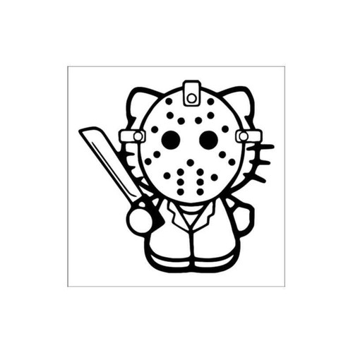 Hello Kitty Jason Voorhees Friday The 13Th Decal
