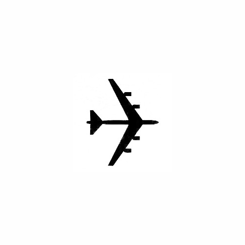 Airplane Silhouette Decal (04) Size option will determine the size from the longest side Industry standard high performance calendared vinyl film Cut from Oracle 651 2.5 mil Outdoor durability is 7 years Glossy surface finish