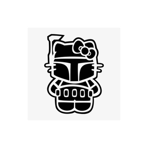 Hello Kitty Star Wars Boba Fett Decal