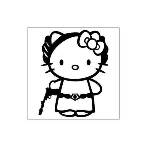 Hello Kitty Star Wars Princess Leia Decal