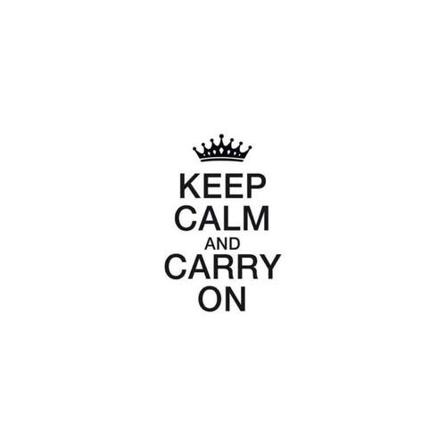 Keep Calm And ry On Decal