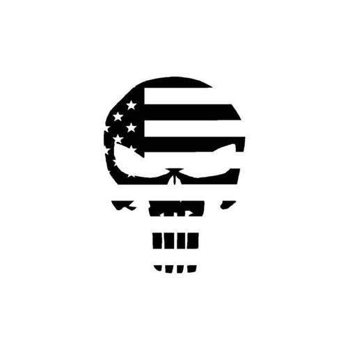 Punisher Skull Flag Decal