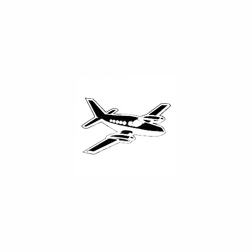 Airplane Decal (01) Size option will determine the size from the longest side Industry standard high performance calendared vinyl film Cut from Oracle 651 2.5 mil Outdoor durability is 7 years Glossy surface finish