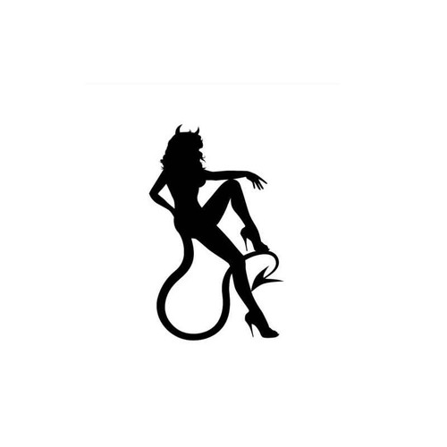 Sexy Hot Women Girl Adult Pinup Devil V3 Decal