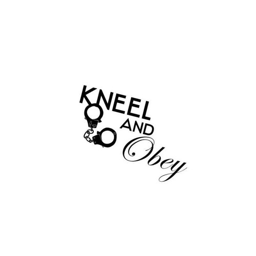 Sexy Hot Women Girl Adult Pinup Kneel And Obey Decal