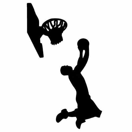 Sports- Basketball  Vinyl Decal Sticker  Size option will determine the size from the longest side Industry standard high performance calendared vinyl film Cut from Oracle 651 2.5 mil Outdoor durability is 7 years Glossy surface finish