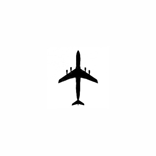 Airplane Silhouette Decal (10) Size option will determine the size from the longest side Industry standard high performance calendared vinyl film Cut from Oracle 651 2.5 mil Outdoor durability is 7 years Glossy surface finish
