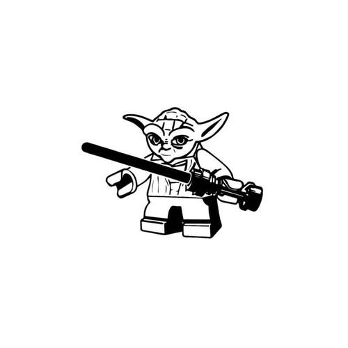 Star Wars Jedi Lego Yoda Decal