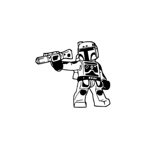 Star Wars Lego Boba Fett Decal