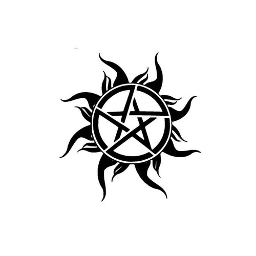 Tv Supernatural Anti Possession Pentagram Symbol Decal