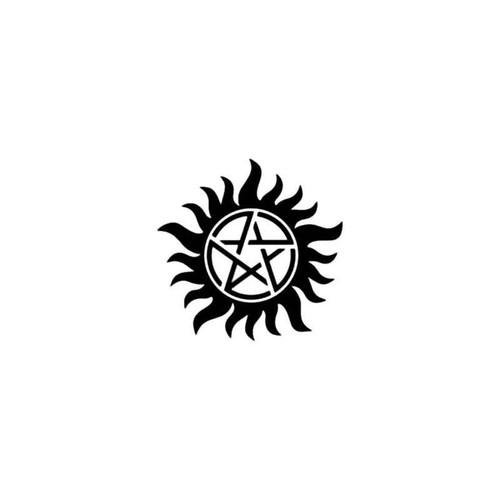 Tv Supernatural Anti Possession Symbol Pentagram Decal