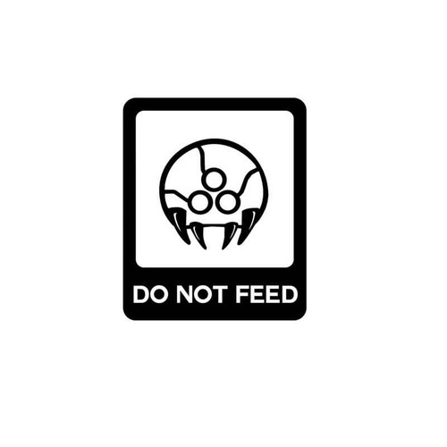 Metroid Do Not Feed Decal
