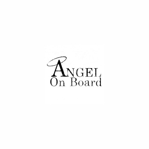 Angel On Board Decal Size option will determine the size from the longest side Industry standard high performance calendared vinyl film Cut from Oracle 651 2.5 mil Outdoor durability is 7 years Glossy surface finish