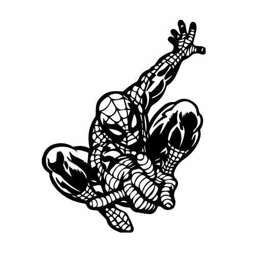 Spiderman Vinyl Decal Sticker  Size option will determine the size from the longest side Industry standard high performance calendared vinyl film Cut from Oracle 651 2.5 mil Outdoor durability is 7 years Glossy surface finish
