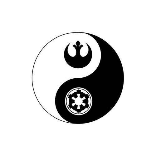 Star Wars Light Dark Side Yin & Yang Decal