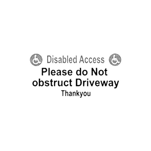 Disabled Access Sign S Decal