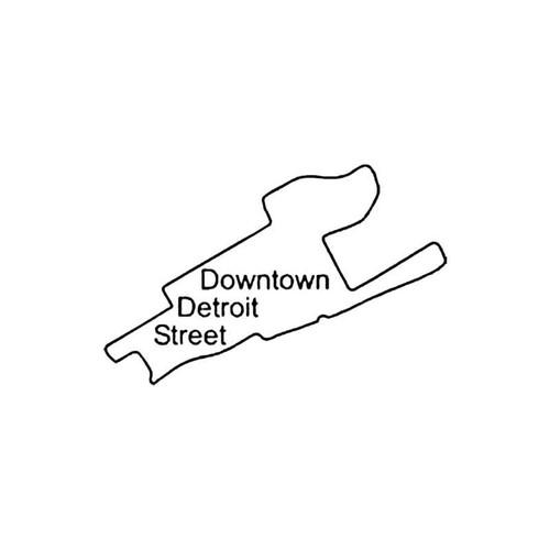 Downtown Detroit Street Circuit Racetrack S Decal