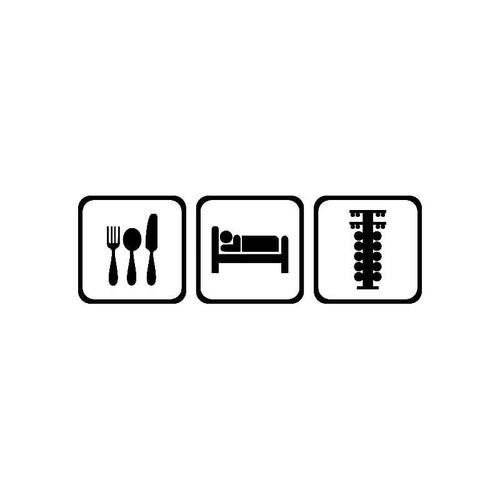 Eat Sleep Race Jdm Jdm S Decal