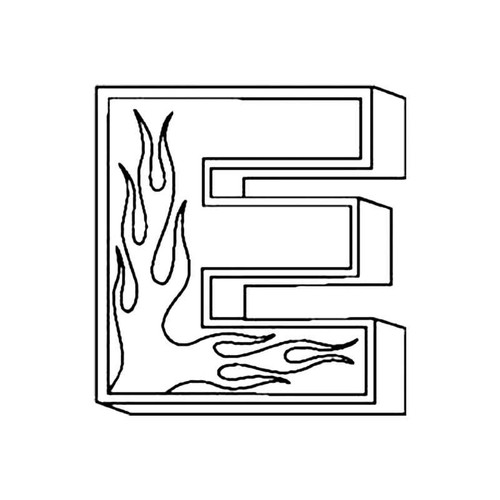 E Flames Letter S Decal