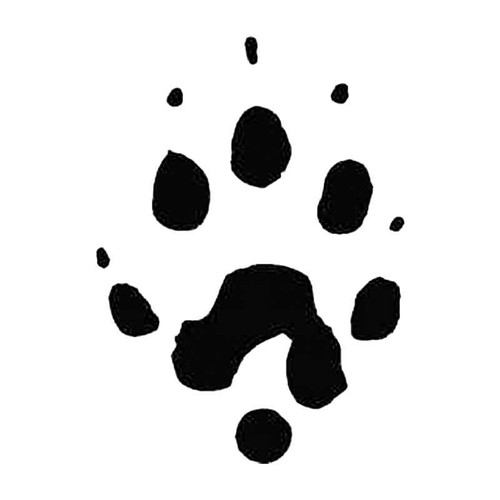 Ferret Paw Print Tracks S Decal