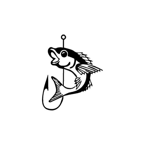 Fish And Hook Decal