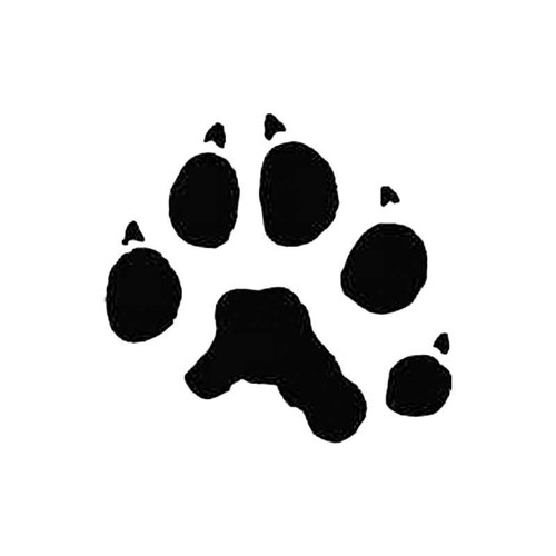 Fisher Marten Paw Print Tracks S Decal