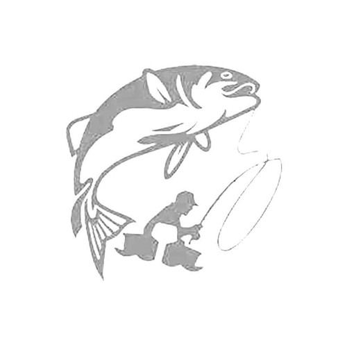 Fish On Hook S Decal