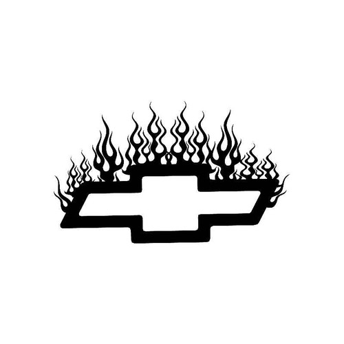 Flame Chevy Logo Jdm Decal