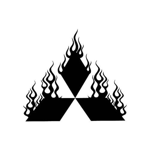 Flame Mitsubishi Logo Jdm Decal
