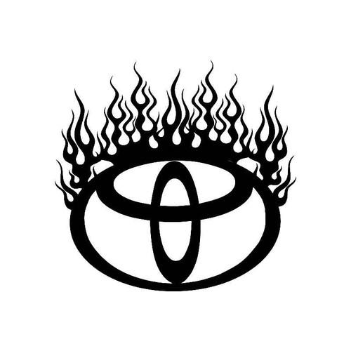 Flame Saturn Logo Jdm Decal