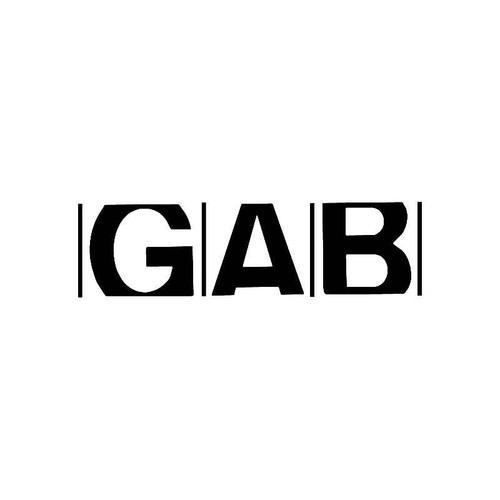 Gab Logo Jdm Decal