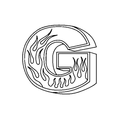 G Flames Letter S Decal